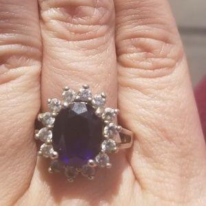 Sapphire sunset ring